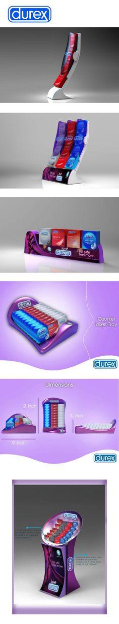 Durex display on Behance