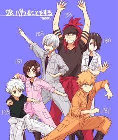 Bleach ~anime~Toushiro~Hinamori~Gin~Renji~Kuchiki~Ichigo~~