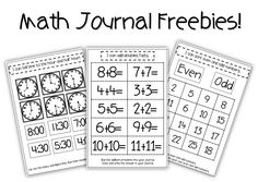 Interactive Math Journal Freebies!