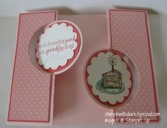 Double Folded Circle Thinlit  Card Come like my Facebook Page /www.facebook.com/pages/Stampin-with-Diane/249204018555071