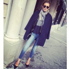 .@Kelli Thompson | En route to @sass & bide #nyfw show wearing jeans, top and scarf by #sassandb... | Webstagram