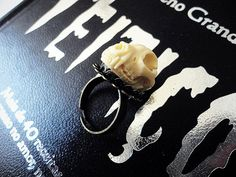 Cat Skull Ring Cat Ring Taxidermy Skull by WickedandLovelyStore