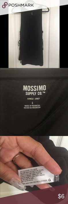 """Mossimo side-tie tank top Excellent used condition! Worn 2 times. No pilling. Tank is """"muscle tank"""" style with low-cut sides and lace-up detailing on both sides. Perfect for wearing with a bright sports bra or lacey bandeau. Open to offers! Comes from a smoke-free, pet friendly home 🐶 Mossimo Supply Co Tops Tank Tops"""