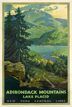Greene, Walter L.  Adirondack Mountains Lake Placid - New York Central Lines, 1930 ca.