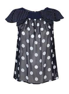Love this polka dot top.