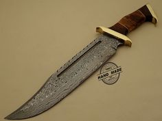 Best Damascus Rambo Bowie Knife Custom Handmade Damascus Steel Hunting Rambo Knife With Olive Wood Handle Leather Sheaths 1110
