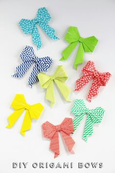 DIY ORIGAMI BOW. — Gathering Beauty