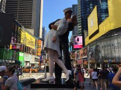 Monumental—and Controversial—Kissing Sailor Sculpture Comes to Times Square