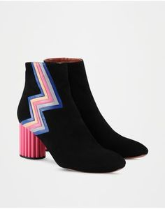 Women - Ankle Boots Women on Missoni Online Store / Zip closure Logo Sueded
