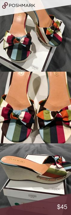 f007076329d31 Coach Lorah multicolor shoes Only worn indoors once. Coach multicolor shoe.  They are adorable