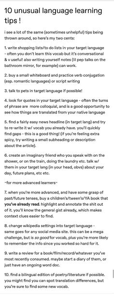 Language learning unusual tips – Foreign Language Learn German, Learn French, Learning Italian, Learning Spanish, Spanish Activities, Learn Espanol, Learning Languages Tips, Learn Languages, Learn Another Language