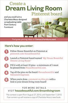 Create a Dream Living Room @House Beautiful Pinterest contest