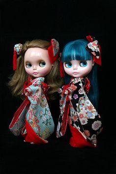 Lil' Heart & PAM in wedding kimono