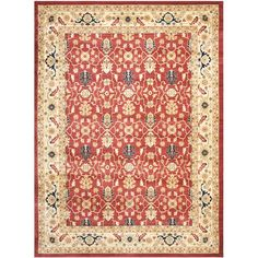 Farahan Red/ Cream Rug   Overstock.com Shopping - Great Deals on Safavieh 7x9 - 10x14 Rugs