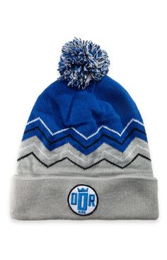 Crowned King Blue Gongshow Mens Hockey Winter Toque Hat | GONGSHOW Hockey Lifestyle Apparel