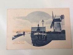 Old Postcard Lytham Windmill And Lifeboat House   eBay