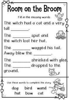Room on the Broom Reading and Writing Activities by Paula's Place Library Activities, Writing Activities, English Activities, Music Activities, Fall Preschool, Preschool Halloween, Halloween Party, Picture Story Books, Music Lesson Plans