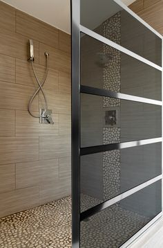 A large shower screen with serious style