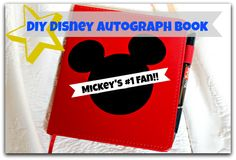 How to make your own DIY Disney autograph book to collect autographs from Mickey and all his friends! Diy Craft Projects, Fun Crafts, Crafts For Kids, Craft Ideas, Disney Cartoons, Disney Movies, Disney Stuff, Autograph Book Disney, Types Of Craft