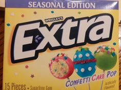 The kids and I like to try new flavors of gum and Wrigley's Extra seems to have a lot of fun experimenting in their flavor labs. Their Key Lime Pie and Mint Chocolate Chip flavors are a nice change. Extra Gum Flavors, Rice Gum, Gum Brands, Yummy Treats, Sweet Treats, Confetti Cake, Weird Food, Mint Chocolate Chips, Chewing Gum