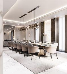 Luxury Dinning Room, Elegant Dining Room, Dining Room Design, Luxury Dining Tables, Modern Dining Rooms, Classic Dining Room, Dining Room Inspiration, Modern House Design, Luxury Furniture