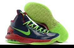 Latest Listing Cheap Nike Zoom KD V 554988 103 Black Green Glow-in-the-Dark-Sole  Basketball Shoes Shop