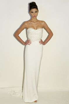 Rafael Cennamo veers from virginal white and classic shapes in his spring bridal line
