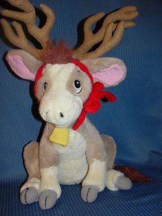 "ANNABELLE'S WISH Plush Reindeer Cow From Movie Big 16"" 1997"