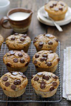 Schokoladensplitter, Kaffee und Praline Muffins