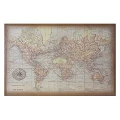 World Map 2 from Z Gallerie - option for above fireplace in living room.