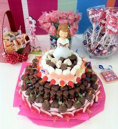 Tartas de chocolates y golosinas