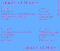 Tabata in your living room! No gym necessary, just hand weights! #tabata #circuittraining
