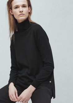 Button wool sweater