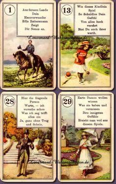Antik Piatnik Lenormand Wahrsagekarten No. 55 mit Versen   Lenormand Online Kartenlegen   Online Orakel kostenlos und Wahrsagen mit Lenormandkarten