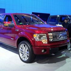 Ruby Red Ford F150 at toronto auto show 2013