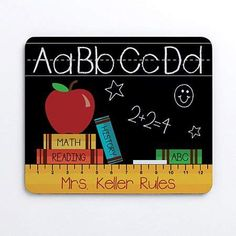 Teachers Rule Personalized Mouse Pad by Personalized Planet Teacher Appreciation Gifts, Teacher Gifts, Teacher Cards, School Staff, Back To School, Teachers' Day, Custom Woodworking, Just For You, Teaching