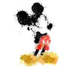 I really like this idea for a tattoo. It's both artistic and Disney! If it could be done small enough I would get this.