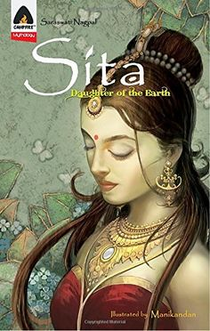 Sita: Daughter of the Earth: A Graphic Novel (Campfire Graphic Novels) Paperback Indian Women Painting, Indian Art Paintings, Kali Goddess, Indian Goddess, Goddess Art, Lord Rama Images, Girl Face Drawing, Gesture Drawing, Lord Krishna Images