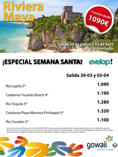 Of. Riviera Maya salidas 30/03 y 03/04 con evelop ultimo minuto - http://zocotours.com/of-riviera-maya-salidas-3003-y-0304-con-evelop-ultimo-minuto/