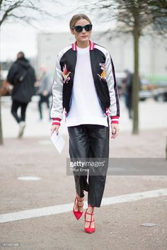 Olivia Palermo seen in the streets of London during London Fashion Week Autumn/Winter 2016/17 at  on February 21, 2016 in London, England.  (Photo by Timur Emek/Getty Images)