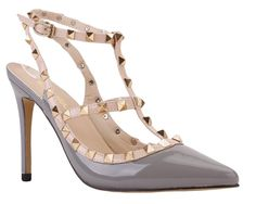"Maikool Women's Plus Size Studded Ankle Strap High Heel Pointed Toe Sandals 15 M US Grey Patent. Maikool: A registered trademark brand owner, main design women shoes such as high heels, wedding shoes, etc. Main Material: High quality patent PU leather upper and wrapped heel with man-made lining. Metal Rivet Design: Hand-made rivet T-straps adjustable buckle closure and pointed toe high heels. Heel Height: 10cm(3.94""). Time:3-7days(Processing)+10days(Shipping to US)."