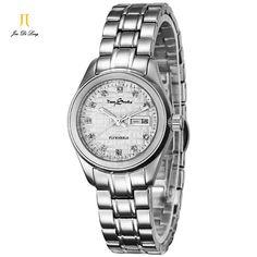 US $112.32 - Brand TS Luxury Fashion Watch Women Automatic Flywheel Watch Ladies Diamond Clock Full Stainless Wristwatch Relogio Feminino