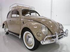 1956 Volkswagen Type 1 Oval Window Beetle Original California Car - Daniel Schmitt & Co. Volkswagon Van, Car Volkswagen, Vw Cars, Vw Camper, Vw Super Beetle, Beetle Car, Bugatti, Lamborghini, Vw Classic