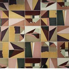 Beautiful tiles at Dimore Studio, Salone Del Mobile 2017 via @michelleogundehin    #Regram via @sarah_ellison_stylist