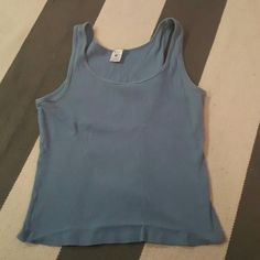 St. Eve medium blue tank worn a few times and washed slight fading no rips tears or stains Tops Tank Tops