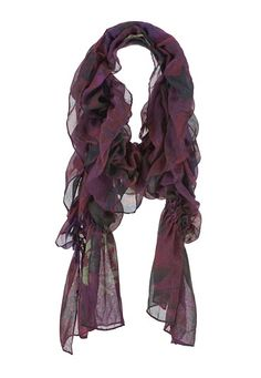 Ruched floral scarf (original price, $14) available at #Maurices