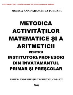 Metodica activitatilor matematice primar si prescolar by Andreea Condurache - issuu How To Remove, Author, Teaching, School, Books, Children, Cover, Decor, Insects