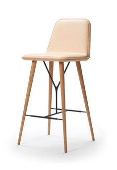 Scandinavian design bar chair SPINE by Space Copenhagen  sc 1 st  Pinterest & 1960s Midcentury Leather Sling Iron Bar Stools | Modern stools ... islam-shia.org