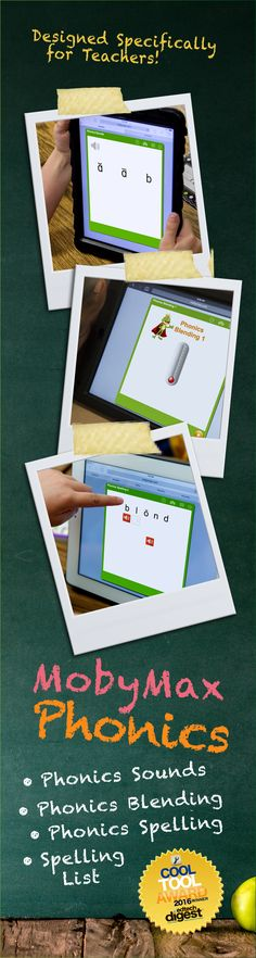 """MobyMax Phonics is a FREE comprehensive phonics course that covers everything from the alphabet to Latin and Greek roots using animated """"teach me"""" lessons, interactive manipulatives, and adaptive practice sets to keep students engaged. MobyMax is a FREE, complete curriculum for all K-8 subjects and specifically designed for teachers."""