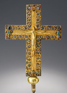Cross of Queen Gisela of Burgundy (d. 1006) Daughter of King Conrad of Burgundy and Adelaide of Bellay. Wife to Henry II, Duke of Bavaria. Mother of Henry II, Holy Roman Emperor